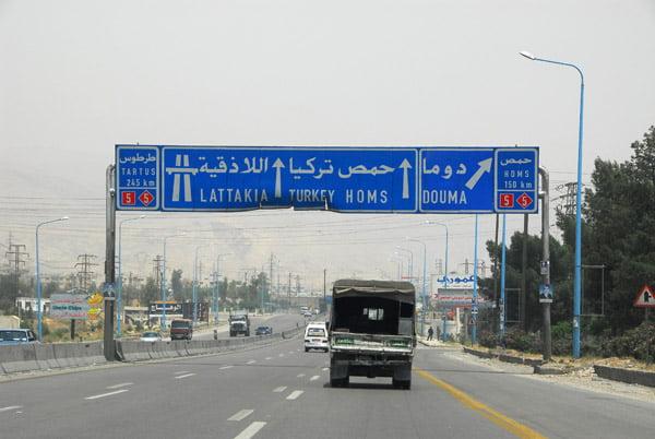 Autostrada in Siria din care ISIS stapaneste o portiune